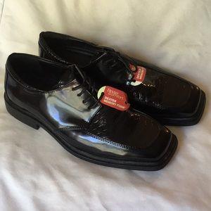 *Dexter NWT  Oxfords Black Patent Leather Croc